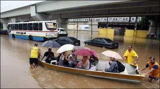 Cảnh lụt lội