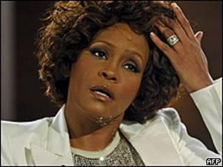 Whitney Houston durante una reciente entrevista televisiva