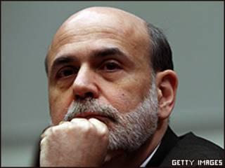 O presidente do Fed, Ben Bernanke