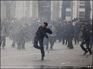 Protesta en Kirguistán