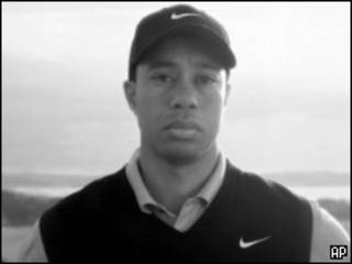 Tiger Woods no anúncio da Nike