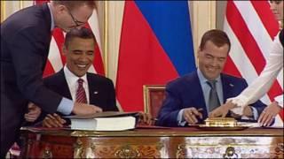 مدودف و اوباما