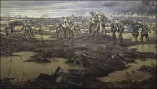 Campo de batalla después de un enfrentamiento. Imagen: cortesía del Imperial World Museum de Londres