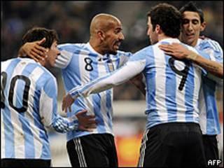 Gol de la selección argentina de fútbol en un amistoso contra Alemania
