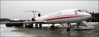 Avión presidencial de Polonia, Tupolev-154.