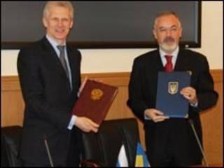 Министры образования России и Украины Андрей Фурсенко и Дмитрий Табачник