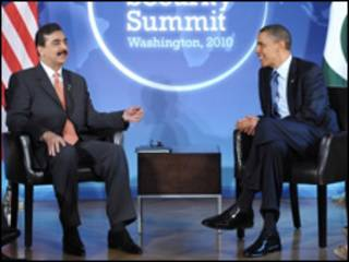 बराक ओबामा और गिलानी