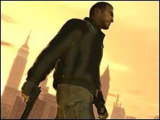 《侠盗猎车手》游戏中的一画面