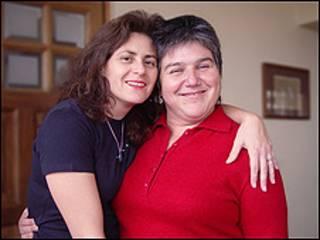 Karen Atala y su pareja