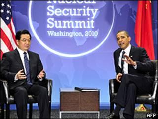 Hu Jintao e Barack Obama