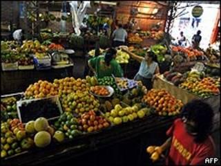 Mercado de La Alameda, en Colombia