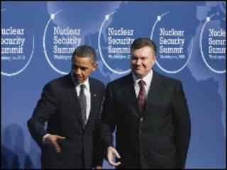 Hai ông Obama và Yanukovych