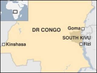 Ramani ya Mashariki mwa DRC