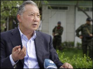 O presidente deposto do Quirguistão, Bakiyev