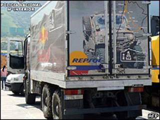 Camión intervenido