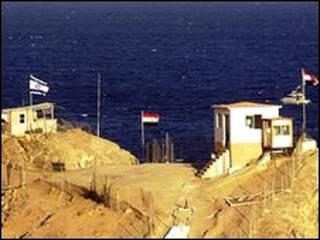 نقطة حدودية مصرية إسرائيلية