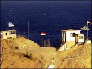 Frontera entre Israel y Egipto en el Sinaí