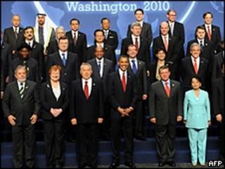 Alguns dos participantes da conferência sobre desarmamento em Washington