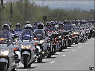 Policías motorizados de Arizona