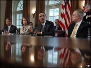Obama en reunión con legisladores