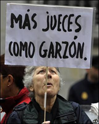 Apoyo al juez español Baltasar Garzón