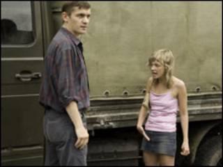 Кадр з фільму ''Щастя моє'' (фото з вебсайту Сергія Лозниці)