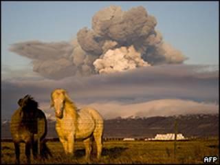 Vulcão em erupção na Islândia