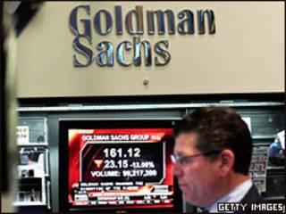 Сотрудник Goldman Sachs на Нью-йоркской фондовой бирже