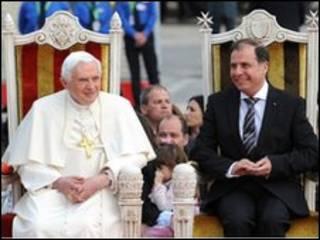 پاپ بندیکت و رئیس جمهور مالتا