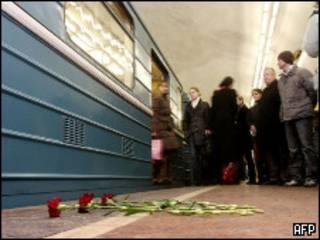Цветы в московском метро