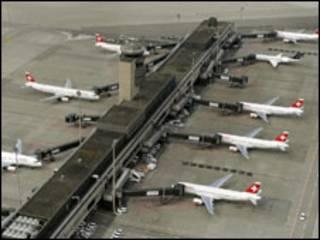 Aviões na Suíça