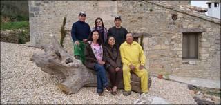 Colombianos en Rioseco, Burgos, España.