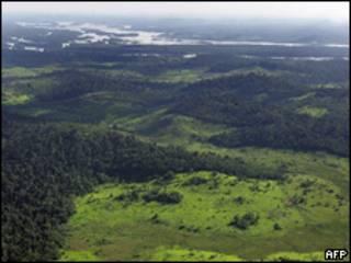Vista aérea do Rio Xingu nas proximidades da região onde usina deve ser construída (AFP/Arquivo)