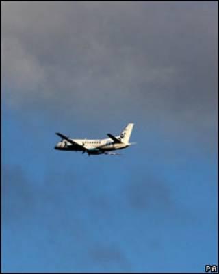 Avião partindo de Glasgow na terça-feira