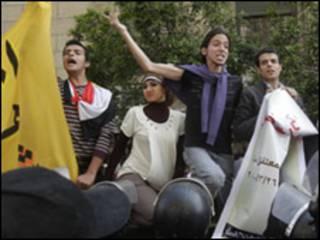 مظاهرة للمعارضة المصرية
