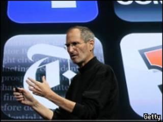 Стив Джобс на презентации Apple