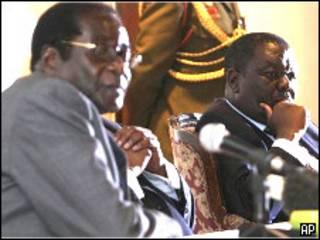 Shugaba Robert Mugabe da Firayim Minista Morgan Tsvangirai