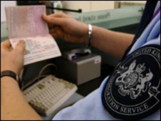 入关签证检查