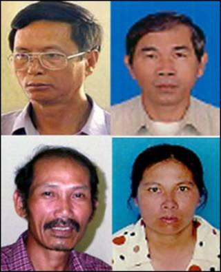 Các ông Phùng Quang Quyền, Dương Âu (hàng trên), Trương Văn Kim, Trương Thị Tám