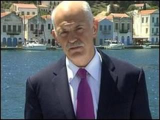 O premiê grego, George Papandreou