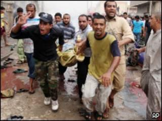 विस्फोट के बाद का एक दृश्य