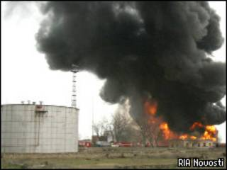 Пожар на нефтебазе в Дагестане (март 2008 года)
