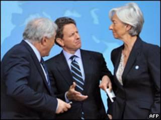 Глава МВФ, министры финансов США и Франции