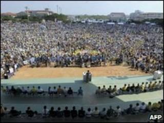 Protesto em Okinawa