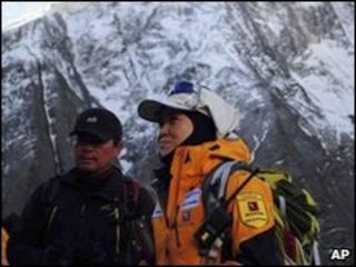 Monte Annapurna y dos escaladores