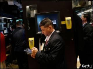 В биржевом зале