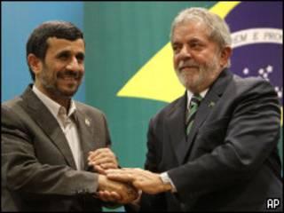 رئیسان جمهوری برزیل و ایران