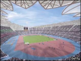 2012伦敦奥运会主会场电脑示意图。