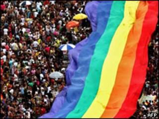 Marcha homosexual en Río de Janeiro