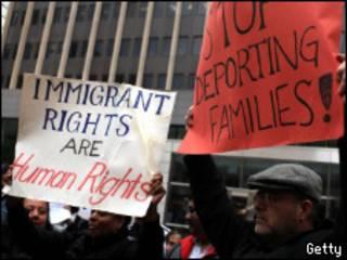 Manifestación contra la ley en Nueva York